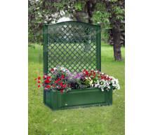 Большой ящик для растений с шпалерой зеленый