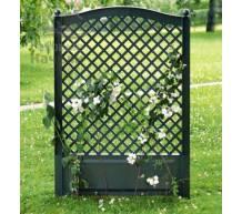 Садовая декоративная шпалера 100 см с штырями для установки в землю зеленая