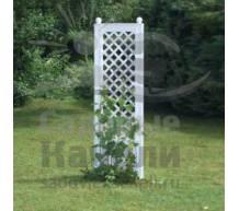 Садовая декоративная шпалера с штырями для установки в землю белая
