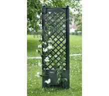 Садовая декоративная шпалера с штырями для установки в землю зеленая