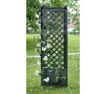 Садовая декоративная шпалера 43 см с штырями для установки в землю зеленая