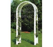Садовая арка с штырями для установки в землю белая