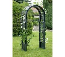 Садовая арка с штырями для установки в землю зеленая