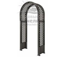 Садовая арка с штырями для установки антрацит