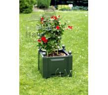 Квадратный ящик для растений зеленый