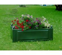 Прямоугольный ящик для растений зеленый
