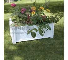 Прямоугольный ящик для растений к изгороди Модуляр белый