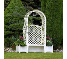 Садовая скамейка Амстердам белая