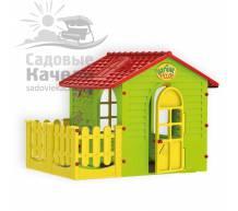 Игровой домик с забором Mochtoys 10839
