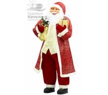 Фигура Санта Клаус с подарком 183 см