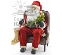 Фигура Санта Клаус в кресле 120 см