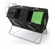 Компостер вращающийся Helex двойной 2х105 л черный/зеленый H821
