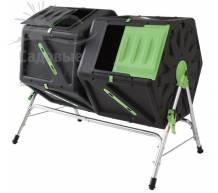 Компостер вращающийся Helex двойной 2х105 л черный/зеленый