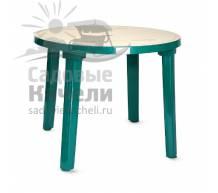 Круглый пластиковый стол с рисунком 90
