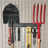 Кронштейн-рейка с крючками для сарая LifeTime Woodlook 2 шт